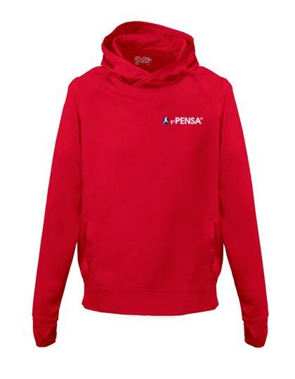 I-Pensa Heavy Blend Youth Full Zip Hooded Sweatshirt red G18600K
