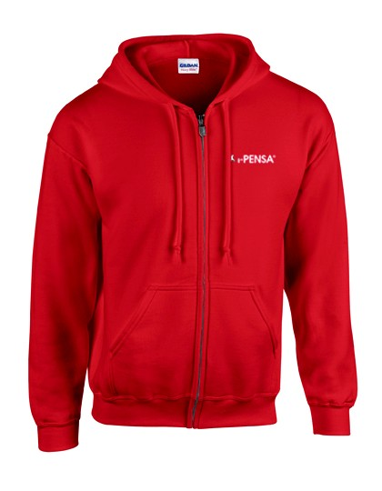 I-Pensa Heavy Blend Full Zip Hooded Sweatshirt red G18600